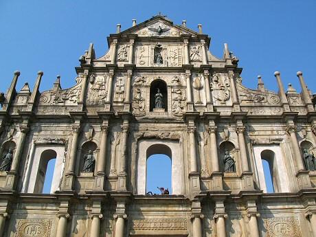 聖ポール天主堂のファサード跡