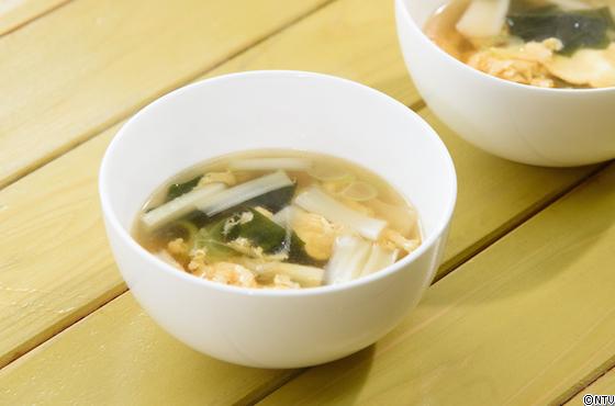 雪菜の卵スープ