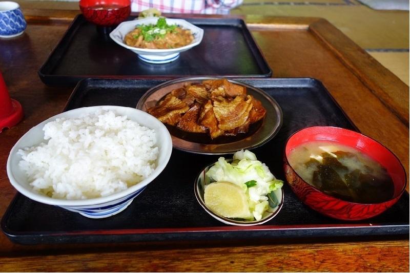 越後屋食堂_肉トーフ定食