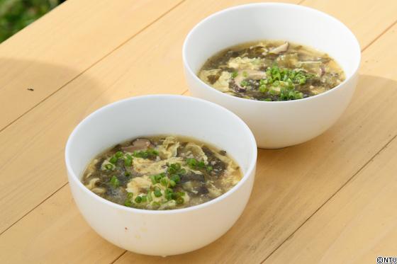 高菜の黒酢スープ